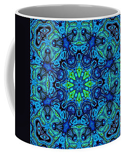 So Blue - 04v2 - Mandala Coffee Mug by Aimelle