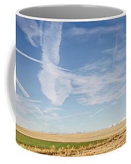 So Many Clouds And Contrails Coffee Mug