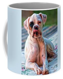 Coffee Mug featuring the digital art So Proud by Kathy Tarochione