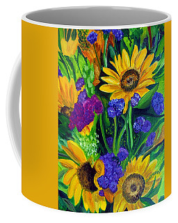 Sunflowers -soaking Up Sunshine Coffee Mug