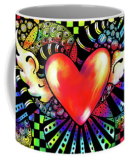 Soaring Heart Coloration Coffee Mug