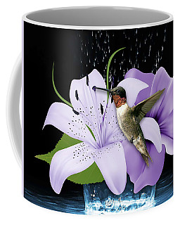 Coffee Mug featuring the mixed media Soaring Hummingbird by Marvin Blaine