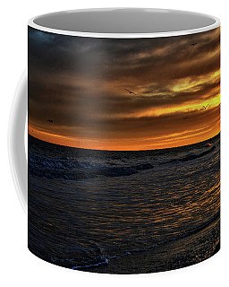 Coffee Mug featuring the photograph Soaring In The Sunset by Kelly Reber