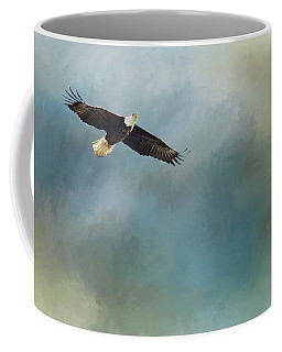 Coffee Mug featuring the photograph Soaring by Rebecca Cozart