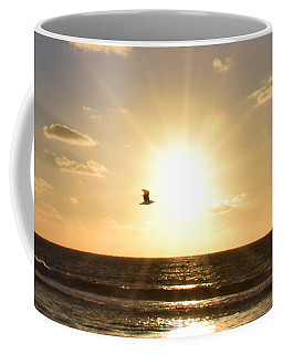 Soaring Seagull Sunset Over Imperial Beach Coffee Mug