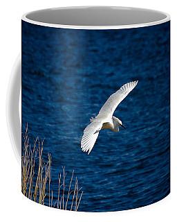 Soaring Snowy Egret  Coffee Mug