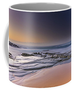 Soft And Rocky Sunrise Seascape Coffee Mug