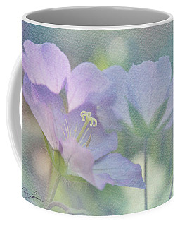 Coffee Mug featuring the photograph Soft Blue by Ann Lauwers