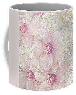 Soft Floral Gold Pattern Design Sophisticated Elegance By Megan Duncanson Coffee Mug