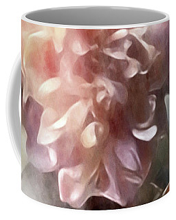 Coffee Mug featuring the mixed media Soft Pastel Peonies by Susan Maxwell Schmidt