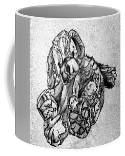 Coffee Mug featuring the drawing Soft Puppy Sketch by Jayvon Thomas
