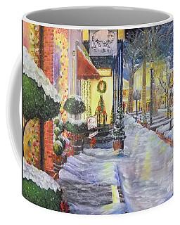 Soft Snowfall In Dahlonega Georgia An Old Fashioned Christmas Coffee Mug