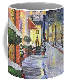 Soft Snowfall In Dahlonega Georgia An Old Fashioned Christmas Coffee Mug