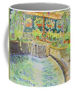 Soft Waterfall In The Pool Of Gibbs Gardens Coffee Mug