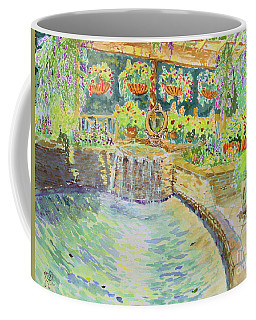 Soft Waterfall In The Pool Of Gibbs Gardens Coffee Mug