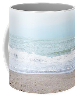 Coffee Mug featuring the mixed media Soft Waves 2- Art By Linda Woods by Linda Woods
