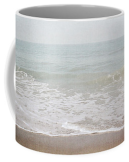 Coffee Mug featuring the mixed media Soft Waves- Art By Linda Woods by Linda Woods