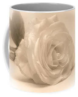 Coffee Mug featuring the photograph Soft White Rose by Scott Carruthers
