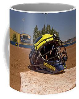 Softball Catcher Helmet Coffee Mug
