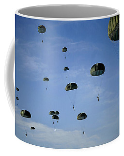 Soldiers Descend Under A Parachute Coffee Mug