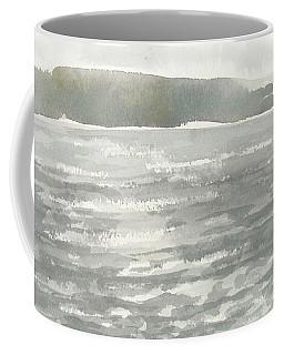 Soldis Over Glittrande Fjord - Sunlit Haze Over Glittering Water_0023 76x48cm Coffee Mug