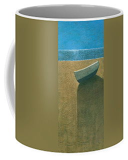 Solitary Boat Coffee Mug