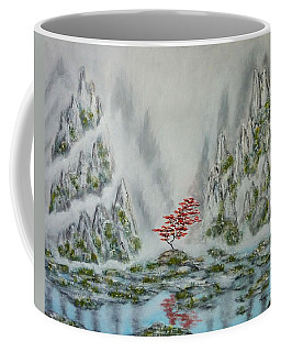 Coffee Mug featuring the painting Solitude by Amelie Simmons