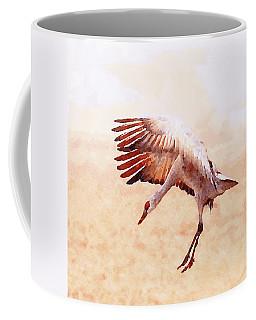 Solo Sandhill Crane Coffee Mug