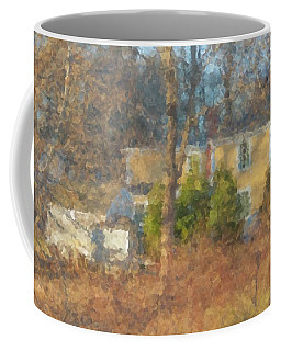 Solstice Morning Light On Colonial Home Coffee Mug