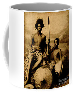 Coffee Mug featuring the photograph Somalian Warriors 1870 by Arnoux