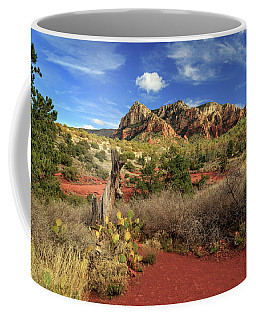 Some Cactus In Sedona Coffee Mug by James Eddy