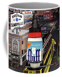 Coffee Mug featuring the drawing A Strange Day In Somerville  by Richie Montgomery