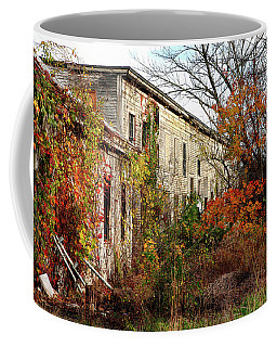 Coffee Mug featuring the photograph Somewhere In Rhode Island - Abandoned Mill 001 by Lon Casler Bixby