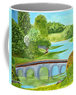 Country Garden In South West England Coffee Mug by Rod Jellison