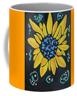 Coffee Mug featuring the painting Son Flower by Deborah Boyd