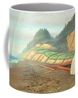 Coffee Mug featuring the painting Song For My Brother by Laurie Stewart