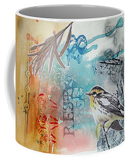 Coffee Mug featuring the mixed media Song Of Life  by Rose Legge