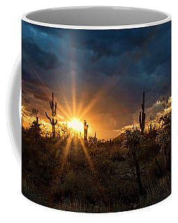 Coffee Mug featuring the photograph Sonoran Gold At Sunset  by Saija Lehtonen