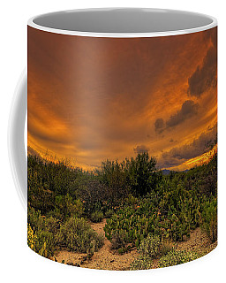 Coffee Mug featuring the photograph Sonoran Sunset H4 by Mark Myhaver