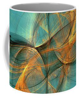 Coffee Mug featuring the digital art Soothing Blue by Deborah Benoit