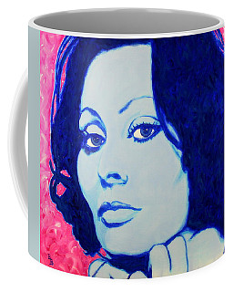 Sophia Loren Pop Art Portrait Coffee Mug