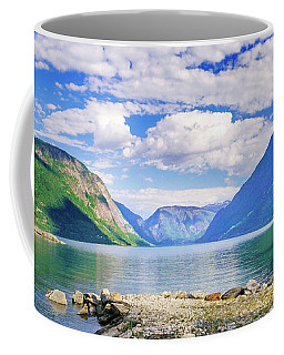 Coffee Mug featuring the photograph Soreimsfjorden by Dmytro Korol