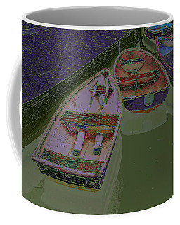 Coffee Mug featuring the photograph Sorrento Harbor Boats With Sabattier by Bill Barber