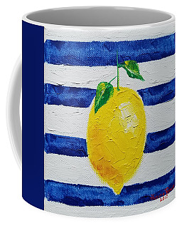 Coffee Mug featuring the painting Sorrento Lemon by Judith Rhue