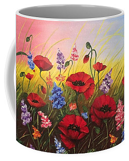 Soul Of May. Lovely Poppies. Coffee Mug