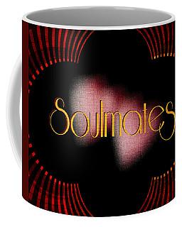 Coffee Mug featuring the digital art Soulmates - Art Deco Red Gold by Absinthe Art By Michelle LeAnn Scott