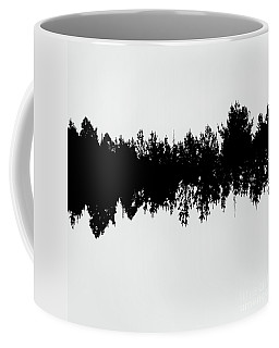 Sound Waves Made Of Trees Reflected Coffee Mug
