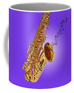 Sounds Of The Sax In Purple Coffee Mug