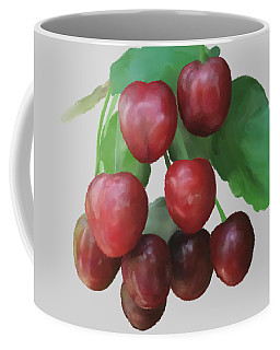 Coffee Mug featuring the painting Sour Cherry by Ivana Westin