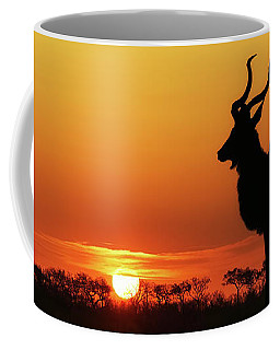 South Africa Sunset Kudu Silhouette Coffee Mug